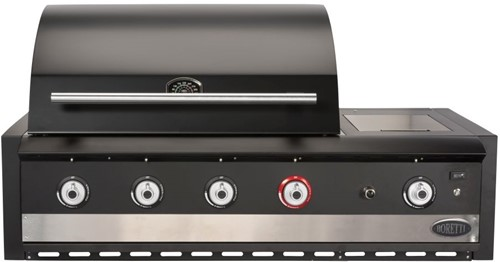 Boretti barbecue Ibrido Top, 75% gas, 25% houtskool