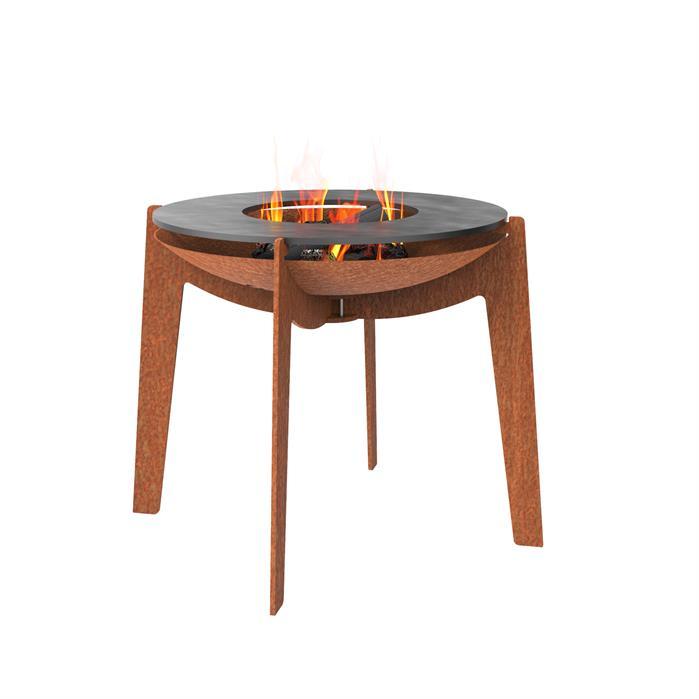 Burni verwarming Burni Cosa vuurschaal 60cm x 57cm met bakplaat