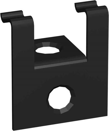 Cobra begin/eindclip voor 24 mm terrasplanken, incl. rvs schroeven en bit, zwart, set van 30 clips