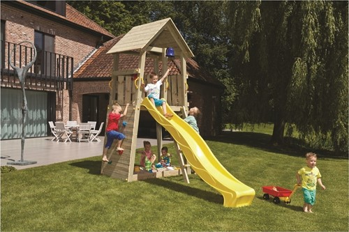 Blue Rabbit 2.0 - speeltoren Belvedere, incl. houtpakket en glijbaan