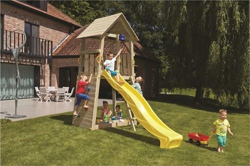 Blue Rabbit 2.0 - toren belvedere, incl. houtpakket en glijbaan