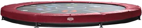BERG Sport inground trampoline Elite+ rood Tattoo, diam. 430 cm.