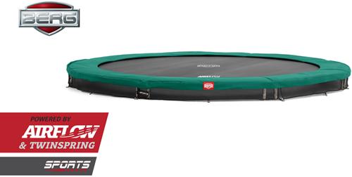 BERG inground trampoline Champion, diam. 430 cm. - zonder veiligheidsnet - groen