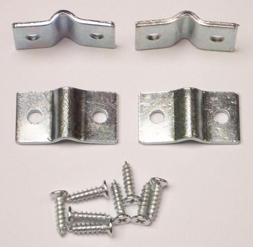 Beslag voor betonijzer/wilgentenen, verzinkt, set 4 stuks