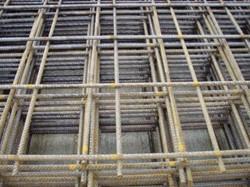 betonijzermat, afm. 200 x 300 cm, maas 15x15 cm, blank staal 6 mm