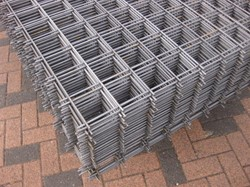 betonijzermat, afm. 200 x 300 cm, maas 15x15 cm, staal verzinkt