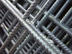 betonijzermat, afm. 180 x 180 cm, maas 10x10 cm, staal verzinkt