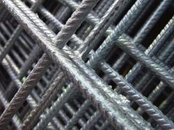 betonijzermat, afm.   90 x 180 cm, maas 10x10 cm, staal verzinkt