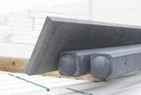 Kühlkamp beton tussenpaal/eindpaal met bolkop voor hout/betonschutting 10x10, lengte 275-74 cm, antraciet glad