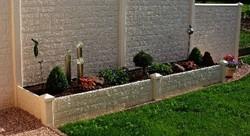 beton hoekpaal diamantkop voor bloembak 10x10x100, glad wit