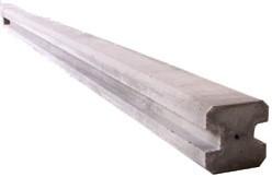 beton eindpaal voor hout/betonschutting 12 x 12, lengte 265, glad