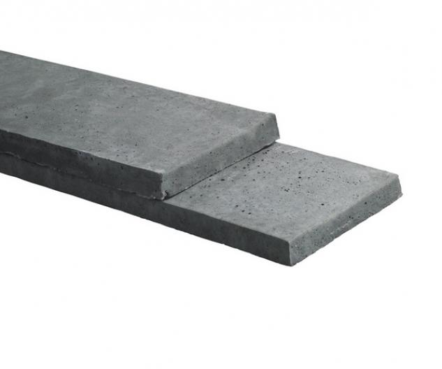 Kühlkamp betonplaat voor hout/betonschutting, afm. 225 x 26 cm, antraciet glad