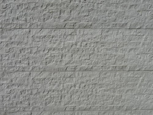 betonplaat voor schutting, afm. 184x36 cm, dubbelzijdig graniet motief, wit