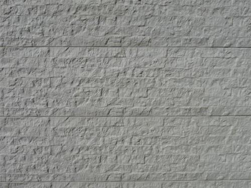betonplaat voor schutting, afm. 184x36 cm, enkelzijdig rotsmotief, wit
