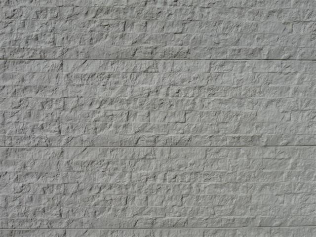 Kühlkamp betonplaat voor schutting, afm. 184x36 cm, enkelzijdig rotsmotief, wit