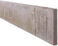 Kühlkamp betonplaat voor schutting, afm. 184 x 26 cm, dubbelzijdig glad, wit