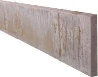betonplaat voor schutting, afm. 224 x 26 cm, dubbelzijdig glad, wit