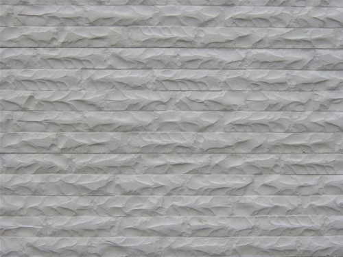 betonplaat voor schutting, afm.184x36 cm, enkelzijdig gebroken steen motief, wit
