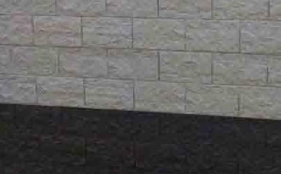 betonplaat voor schutting, afm. 184x36 cm, dubbelzijdig elbe motief, wit