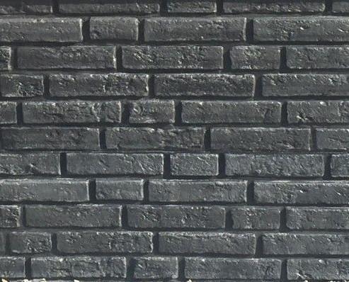 betonplaat voor schutting afm. 184x36 cm, enkelzijdig klassieksteen motief, antraciet-1