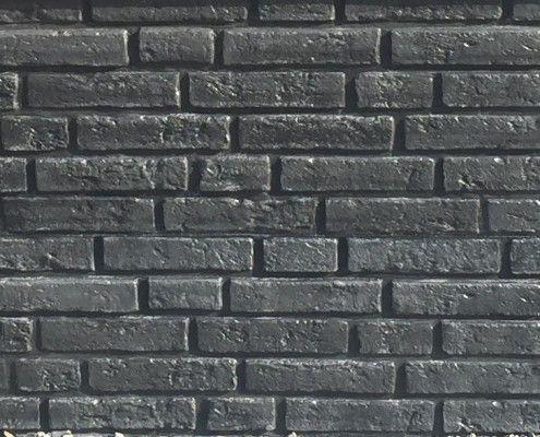 Kühlkamp betonplaat voor schutting afm. 184x36 cm, enkelzijdig klassieksteen motief, antraciet