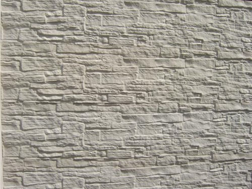 betonplaat voor schutting, afm. 184x36 cm, enkelzijdig nostalgie motief, wit
