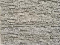 betonplaat voor schutting, afm. 184x36 cm, dubbelzijdig nostalgie motief, wit