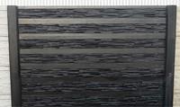 betonplaat voor schutting, afm. 184x36 cm, dubbelzijdig rhein motief, antraciet