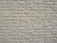 betonplaat voor schutting, afm. 184x36 cm, dubbelzijdig romeins motief, wit