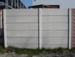 meerprijs hout/betonschutting met 2 dubbelzijdig gladde betonplaten 26 cm hoog, 0,95 m