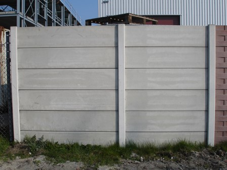 meerprijs hout/betonschutting met dubbelzijdig gladde betonplaat 26 cm hoog, 0,95 m