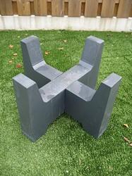 Betonvoet voor kleine vuurschaal, afm. 40 x 40 x 30 cm, antraciet