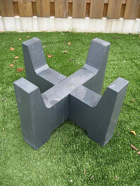 Kühlkamp Betonvoet voor kleine vuurschaal, afm. 40 x 40 x 30 cm, antraciet