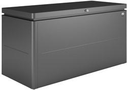 Loungebox, afm. 160 x 70 cm, hoogte 83,5 cm, donkergrijs metallic