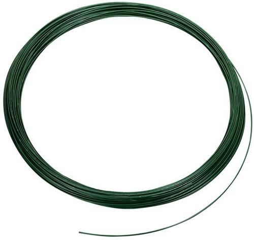 Spandraad, dikte 3,8 mm, groen geplastificeerd  100 m