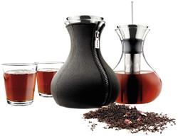 Eva Solo theemaker, inhoud 1,0 liter, incl. 2 glazen, zwart