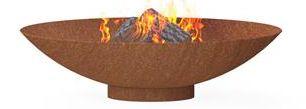 Burni verwarming Burni vuurschaal, diam. 80 cm, hoogte 21 cm, 3-4 mm cortenstaal