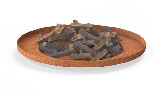 Burni vuurschaal Borc, diam. 90 cm, hoogte 10 cm, 3-4 mm cortenstaal