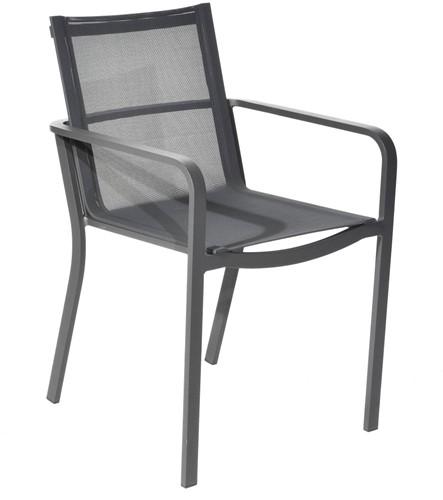 Borek Calpe stapelbare stoel  - antraciet