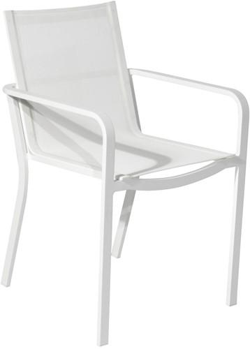 Borek Coria stoel - 52,5 x 60 x 85,5 cm - wit