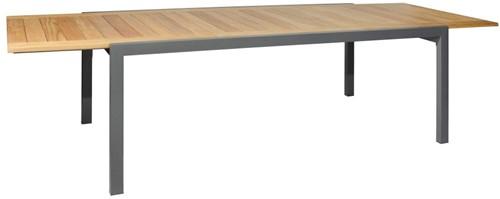Borek ELX verlengbare tafel - staal - antraciet