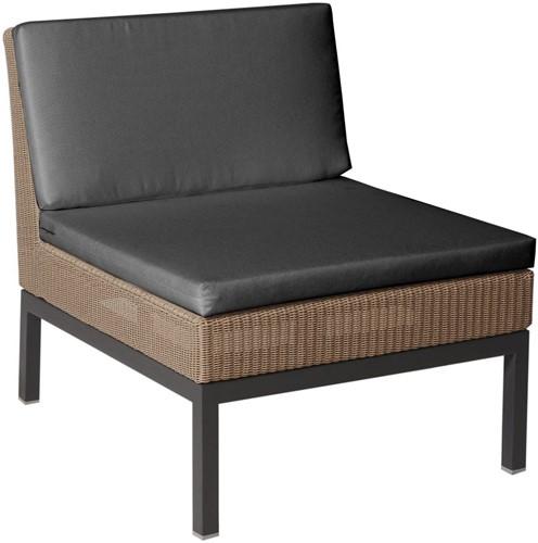 Borek Geneva lounge stoel zonder armleuningen - antraciet