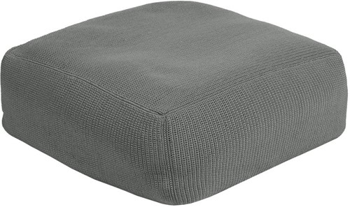 Borek Crochette pouffe - iron grey