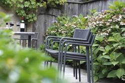 Borek Mallorca dining stoel, aluminium, stapelbaar