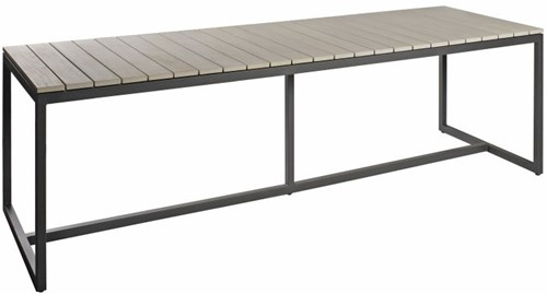 Borek Venice tafel  240 x 90 x 75 cm - antraciet