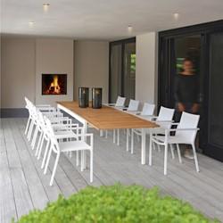 Borek Coria tuinstoel, gepoedercoat aluminium