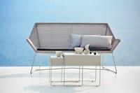 Cane-line Breeze lounge bank - white-grey-2