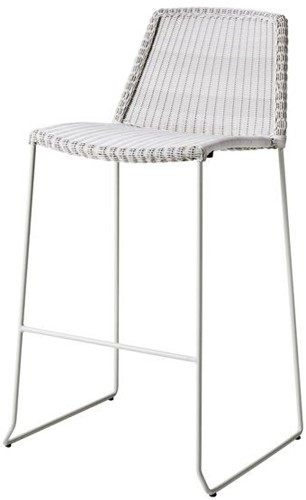 Cane-line Breeze barstoel - white-grey