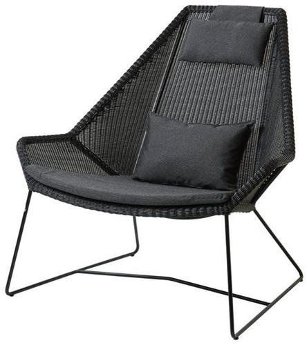 Cane-line Breeze highback stoel - black