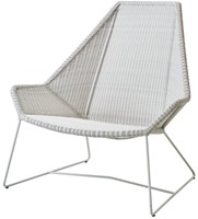 Cane-line Breeze highback stoel - white-grey